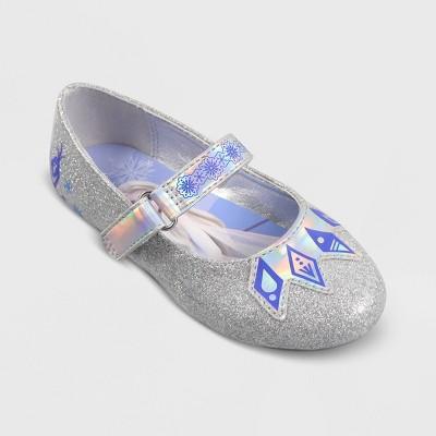 Toddler Girls' Frozen Ballet Flats - Silver
