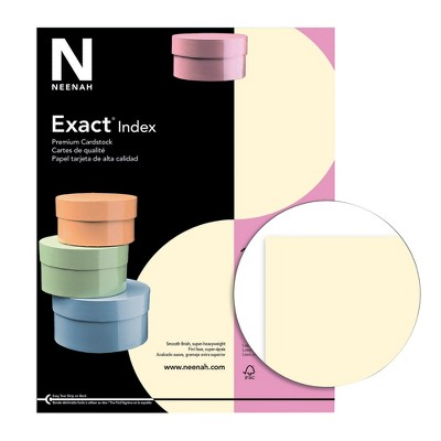 Exact Index Cardstock, 8-1/2 x 11 Inches, 110 lb, Ivory, 250 Sheets