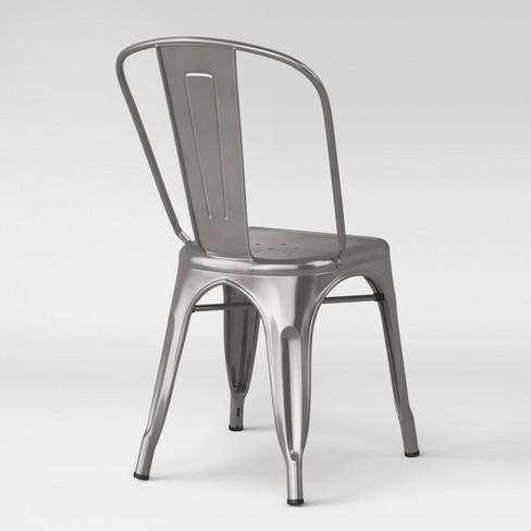 1e5f9b8d9aae Carlisle High Back Fully Assembled Metal Dining Chair Silver - Threshold™