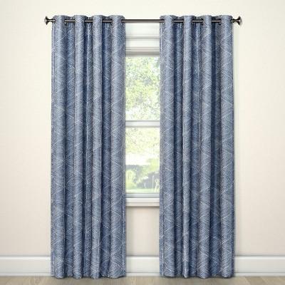 "84""x50"" Blackout Curtain Panel Modern Stroke Blue - Project 62™"