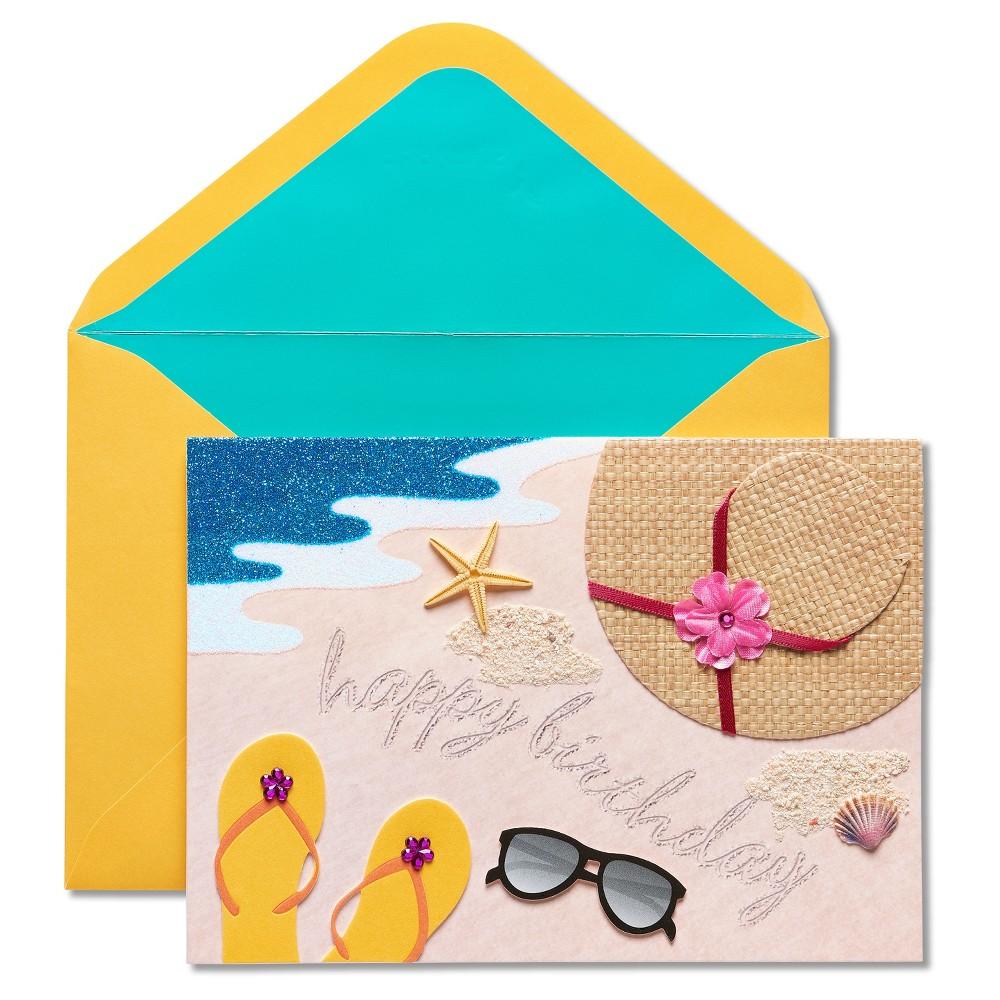 Papyrus Beach Scene Birthday Card, Multi-Colored