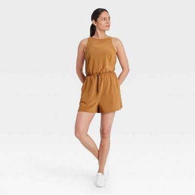 Women's Stretch Woven Romper - All in Motion™