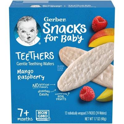 Gerber Teether Mango Raspberry Baby Snacks - 1.7oz/12pk Each