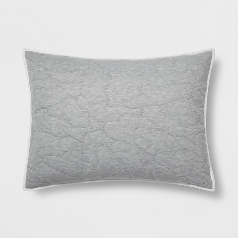 Standard Triangle Stitch Microfiber Sham Grey - Pillowfort™ - image 1 of 2