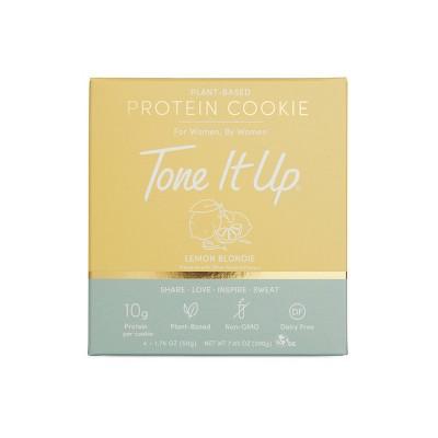 Tone It Up Plant-Based Protein Cookie - Lemon Blondie - 4ct