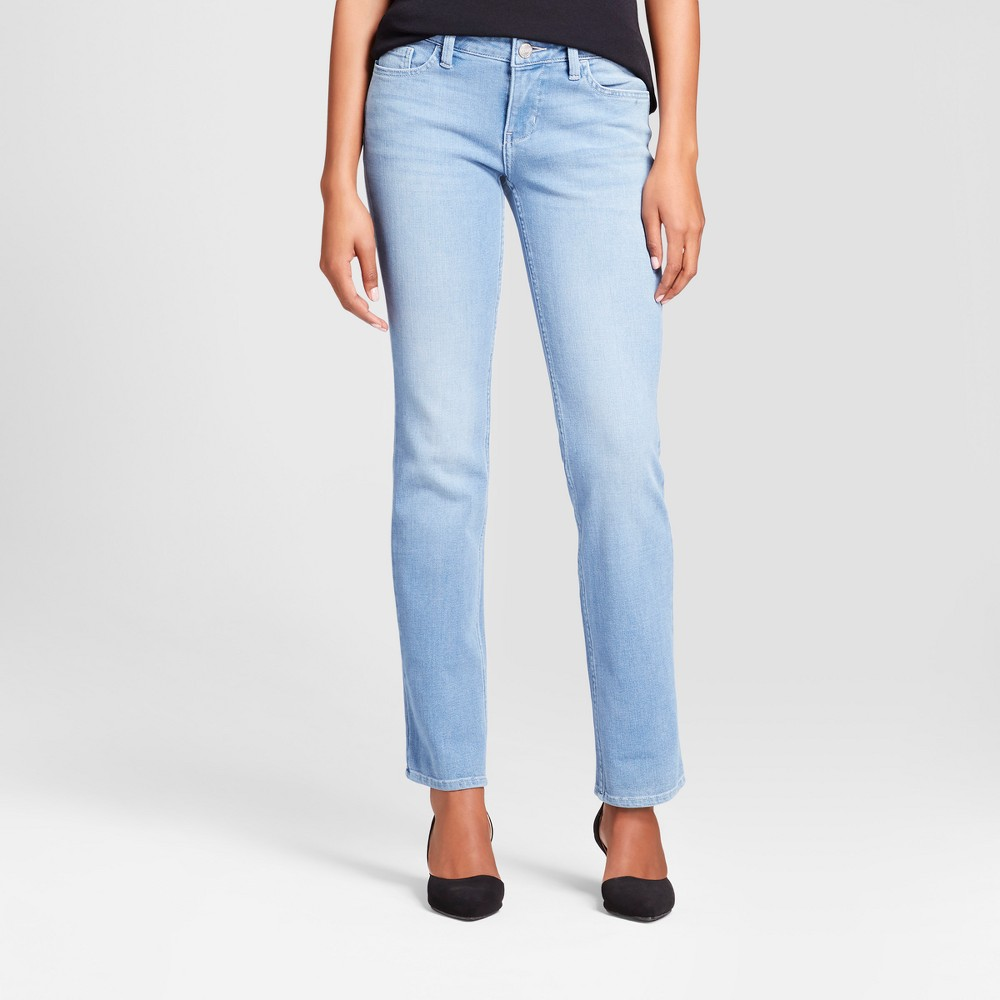 Women's Modern Fit Signature Straight Leg Jeans - Crafted by Lee Light Denim Wash 16, Blue