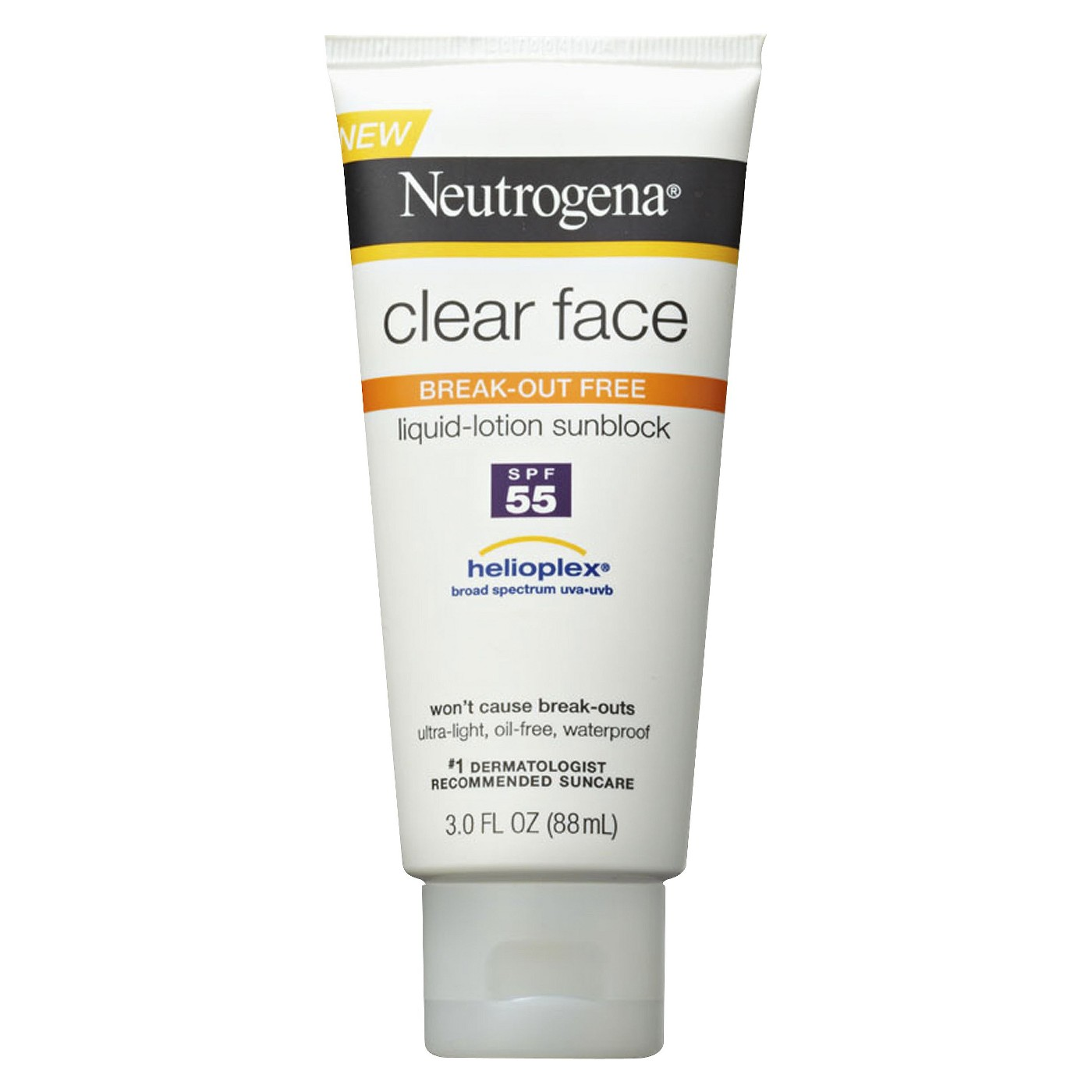 Neutrogena Clear Face Sunscreen Lotion  - SPF 55 - 3oz - image 1 of 5