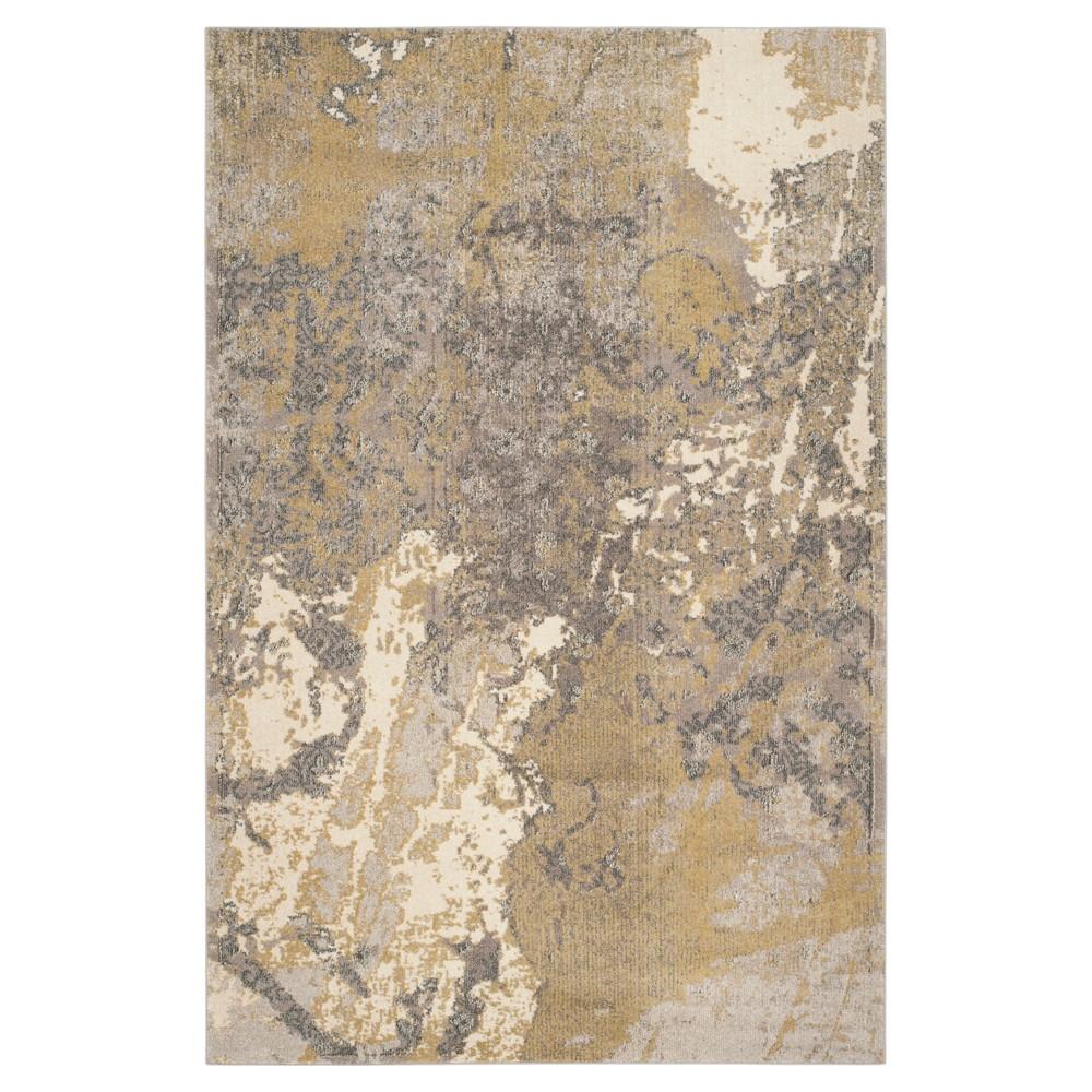 Peri Area Rug - Ivory / Gray ( 5' 1