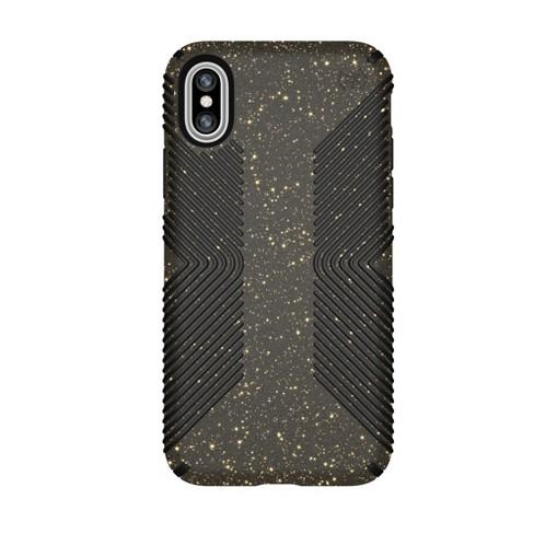 premium selection b8adc c220d Speck Apple iPhone X Case Presidio Grip - Black/Gold Glitter