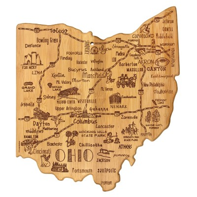 Totally Bamboo Destination Ohio Cutting Board 13.5  x 12