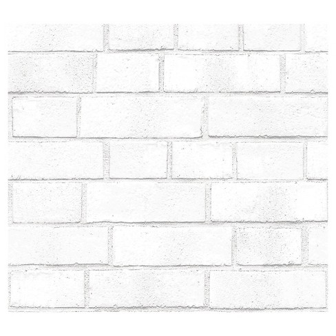 devine color textured brick peel stick wallpaper white target
