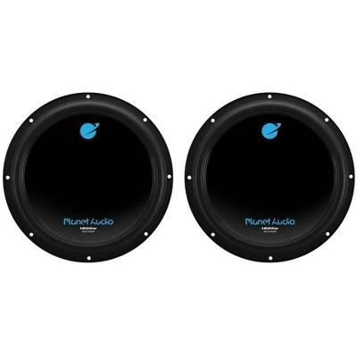 Planet Audio AC10D 10 Inch 3000 Watt 4 Ohm Dual Voice Coil Car Audio Subwoofers with Stamped Basket, Polypropylene Cone & Foam Surround, Black, Pair