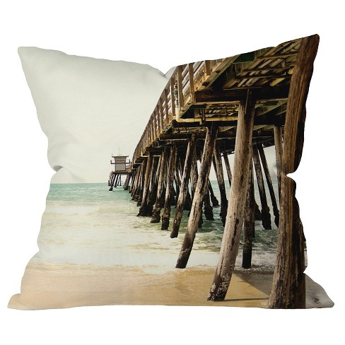 Light Offwhite Down By The Pier Throw Pillow - Deny Designs® - image 1 of 1