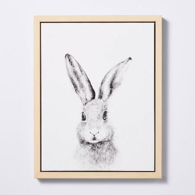 11x14 Framed Canvas Bunny - Cloud Island™