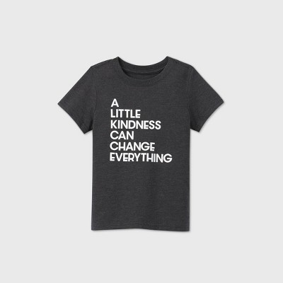 Toddler Kids' Short Sleeve 'A Little Kindness' Graphic T-Shirt - Cat & Jack™ Black 4T