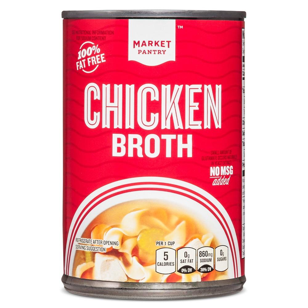 Chicken Broth 14.5 oz - Market Pantry