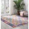 Passion PSN12 Ivory Area Rug Moroccan Transitional Bordered By Nourison - image 4 of 4