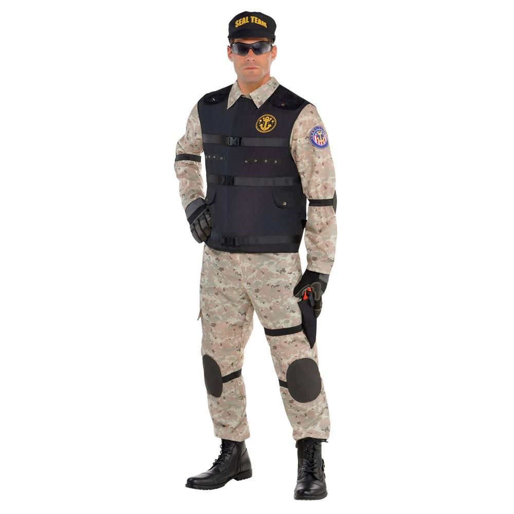 Adult Plus Seal Team Hero Halloween Costume 2x