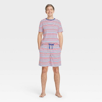 Men's Americana Striped Matching Family Pajama Set - White