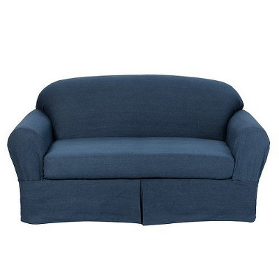 Charmant 2pc Casual Home Twill Loveseat/Sofa Slipcover   Target Home