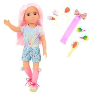 Glitter Girls Poseable Doll with Colored Hair & Accessories - Nixie