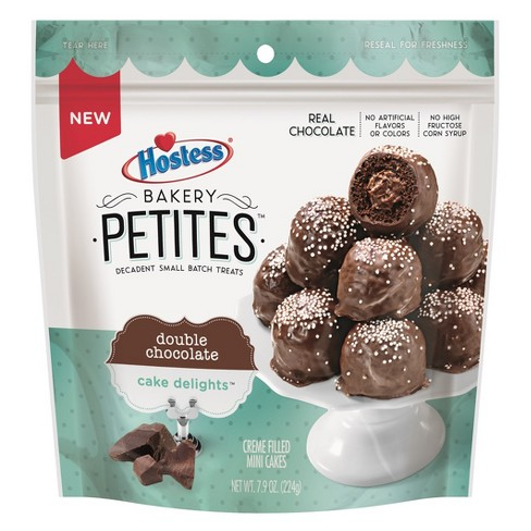 Hostess Bakery Petites Double Chocolate Cake Delights -  7.9oz - image 1 of 1