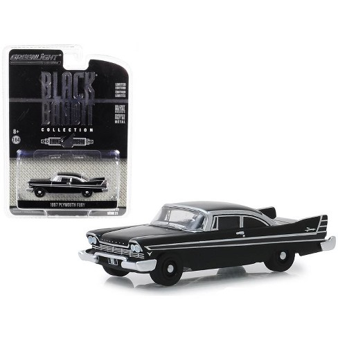 """1957 Plymouth Fury """"Black Bandit"""" Series 21 1/64 Diecast Model Car by Greenlight - image 1 of 1"""