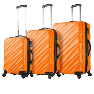 Mia Viaggi Lodi Hardside 3pc Luggage Set - Orange