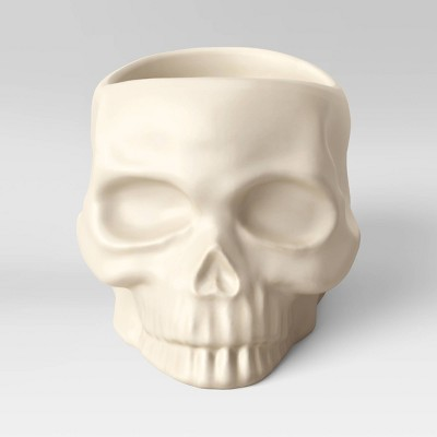 Skull Pillar Holder Ivory - Threshold™