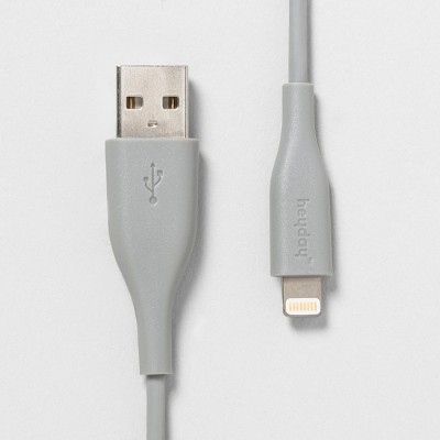 heyday™ 3' Lightning to USB-A PVC Round Cable - Wild Dove