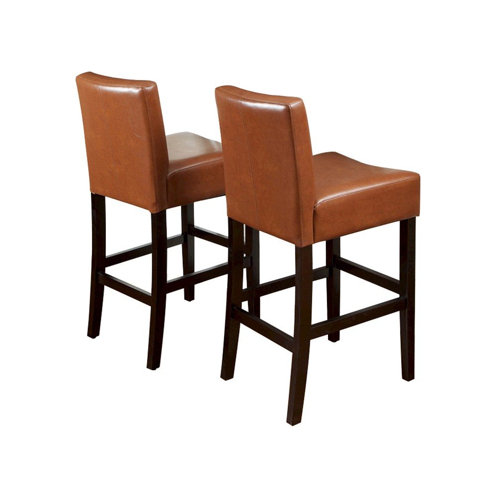 Set of 2 25.5 Lopez Leather Counter Stool Light Brown - Christopher Knight Home was $197.99 now $128.69 (35.0% off)