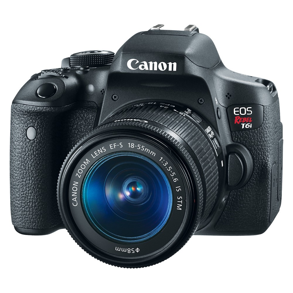 Canon Eos Rebel T6i EF-S 18-55mm IS Stm Kit - Black (0591C003)
