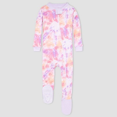 Burt's Bees Baby® Baby Girls' One Piece Tie-Dye Footed Pajamas - Purple