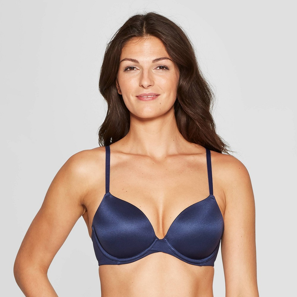 Women's Full Coverage Icon Lightly Lined T-Shirt Bra - Auden Smart Blue 36C