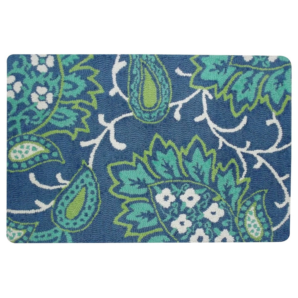 2x3' Cool Floral Hooked Accent Rug - Threshold, Gray