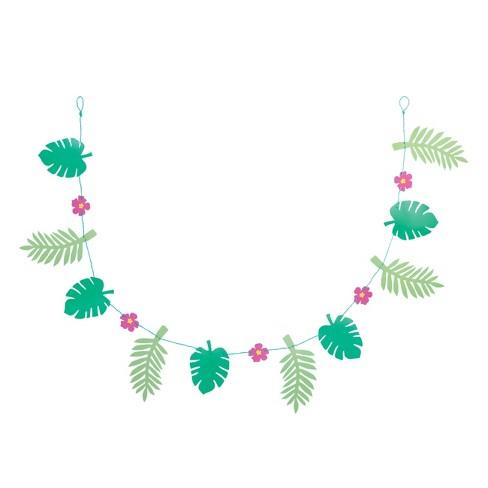 "72"" Palm Leaf Garland Green - Spritz™ - image 1 of 2"