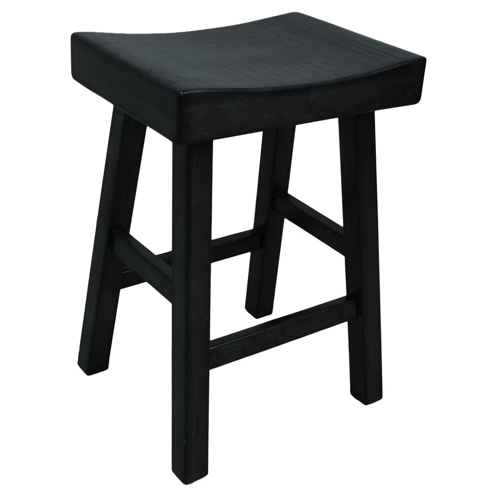 "Image of ""24"""" Levi Counter Stool - Black - Carolina Chair and Table"""