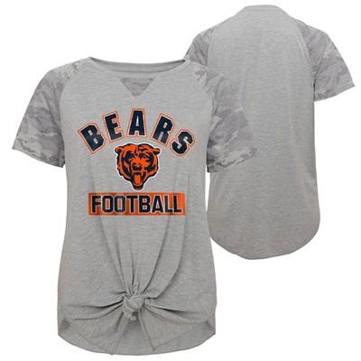 NFL Chicago Bears Women's Short Sleeve Front Knot T-Shirt
