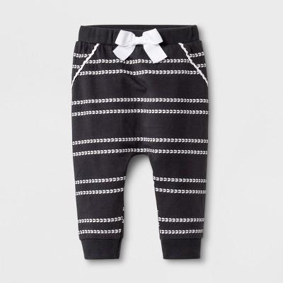 Baby Girls' Stripe Jogger Pants - Cat & Jack™ Gray 3-6M
