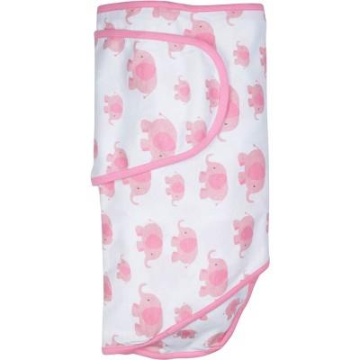 Miracle Blanket Swaddle Wrap Elephants Pink