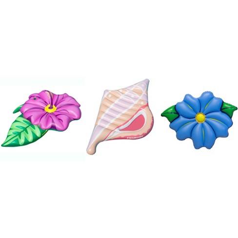 Swimline Inflatable Flower Seashell Raft Island Float For Swimming Pool (3 Pack) - image 1 of 5