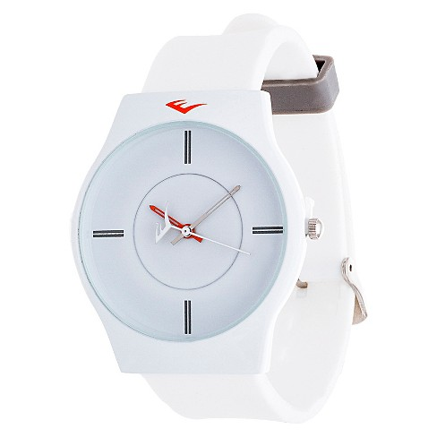 Everlast® Soft Touch Rubber Strap Watch - White - image 1 of 2