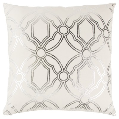 Geometric Throw Pillow Silver - Rizzy Home