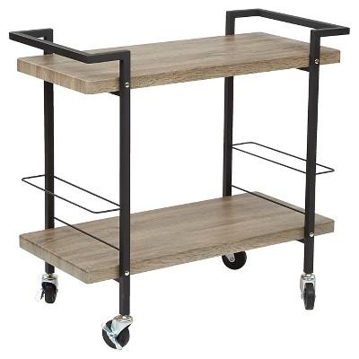 Maxwell Serving Cart Ash Veneer - OSP Home Furnishings - OSP Home Furnishings
