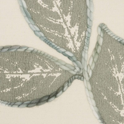 """20""""x20"""" Embroidered Leaves Throw Pillow - Mina Victory : Target"""