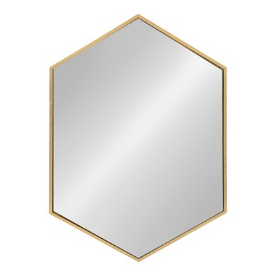 Kate & Laurel 31 x22  Decorative Wall Mirror Gold