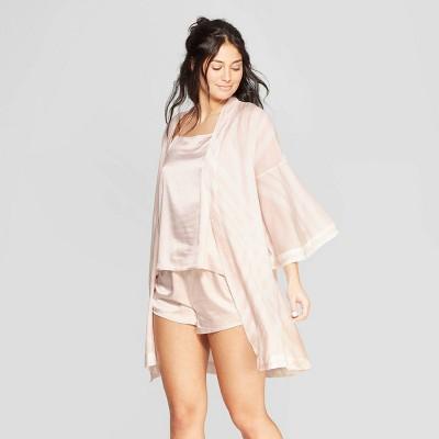 Women's Striped Simply Cool Robe - Stars Above™ Soft Petal Pink XL/XXL
