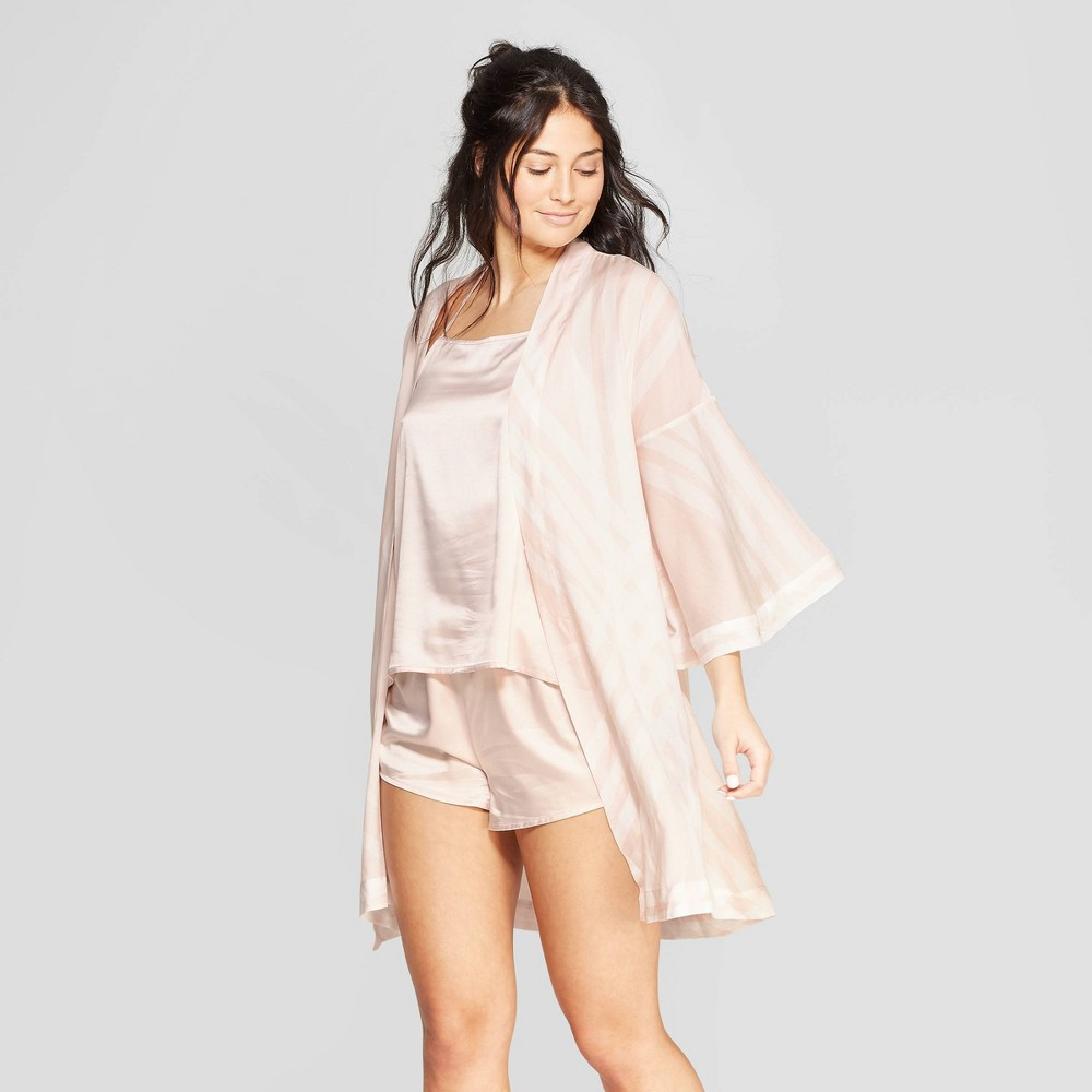 Women's Striped Simply Cool Robe - Stars Above Soft Petal Pink M/L