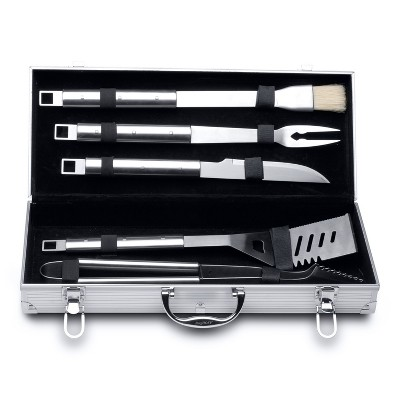 BergHOFF Cubo 6Pc Stainless Steel BBQ Set with Case