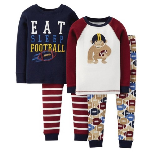 Just One You™ Made by Carter's® Toddler Boys' 4pc Mix & Match Football Pajama Set - Black 7 - image 1 of 1